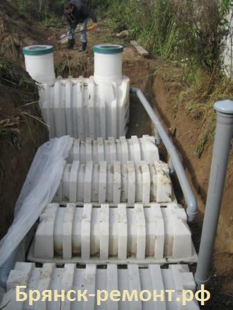 Установка септика - выход если рядом нет канализации, пропускная способность 1500-2000 литров в день. Рассчитан на 7-9 человек