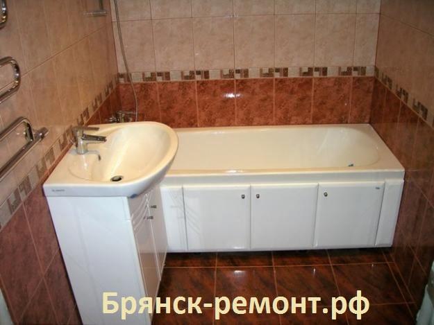 Объект сдан 3 октября 2013. Укладка плитки в ванной